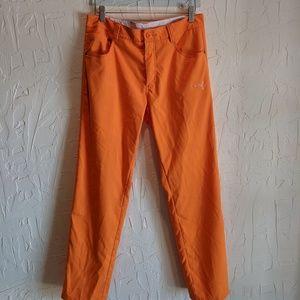 Vibrant Orange Puma Golf Pants Style 562645
